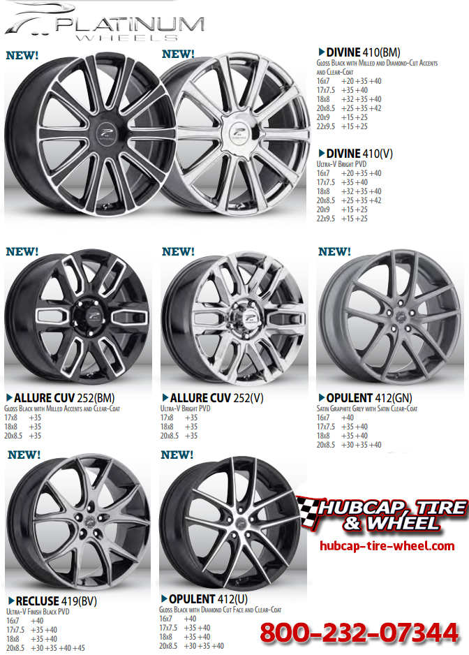 New 2015 Platinum Wheels