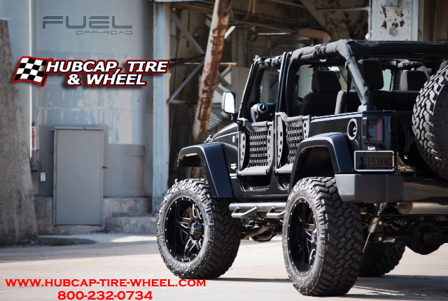 "2014 Jeep JK Wrangler 6"" Lift Fuel Off-Road D254 Full Blown Wheels"