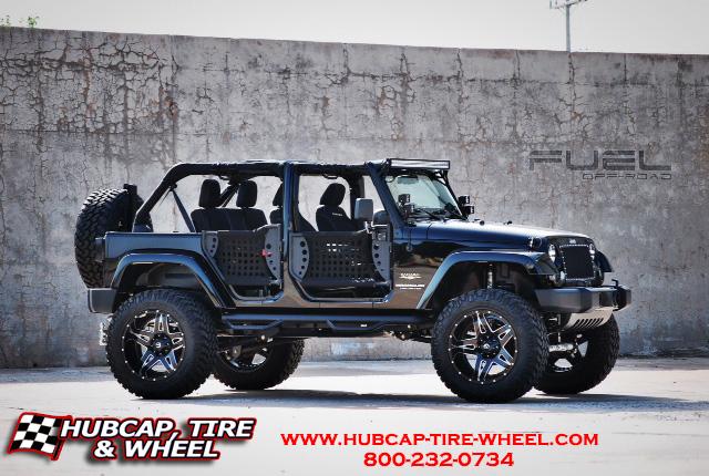 """2014 Jeep JK Wrangler 6"""" Lift Fuel Off-Road D254 Full Blown Wheels"""