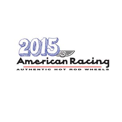 New 2015 American Racing Hot Rod Vintage Wheels Logo
