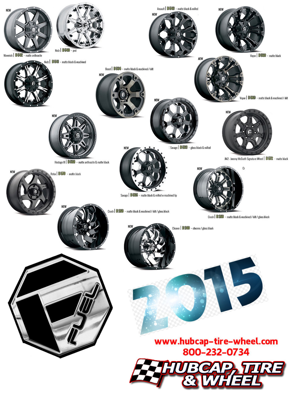 new 2015 fuel off road offroad wheels rims