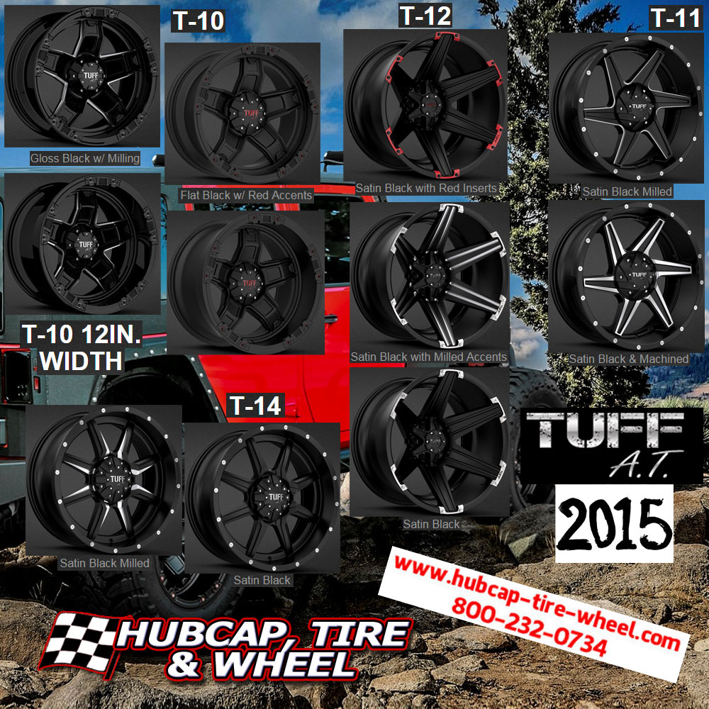 New 2015 Tuff AT all terrain wheels rims