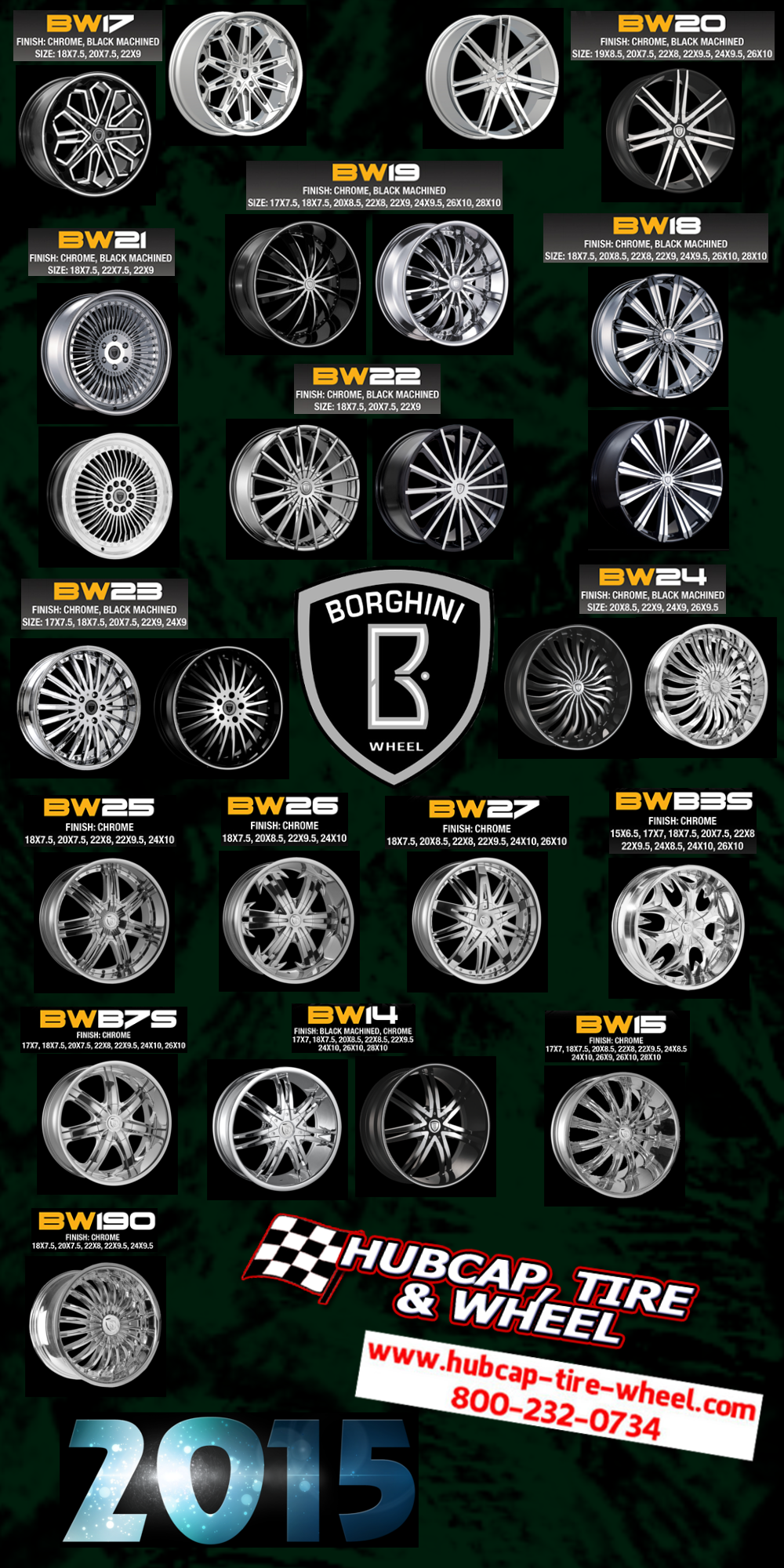 new 2015 borghini wheels rims