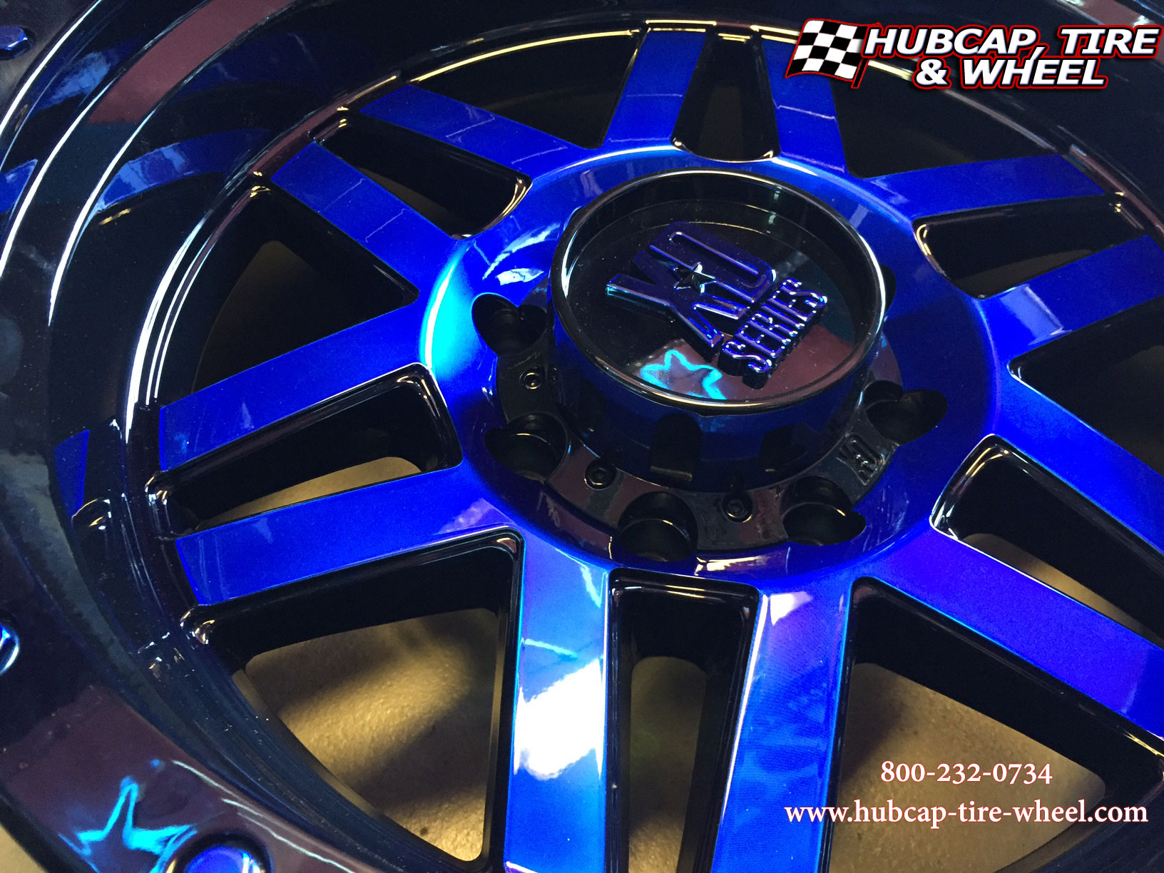 kmc xd series xd128 black blue clear coat custom aftermarket wheels rims