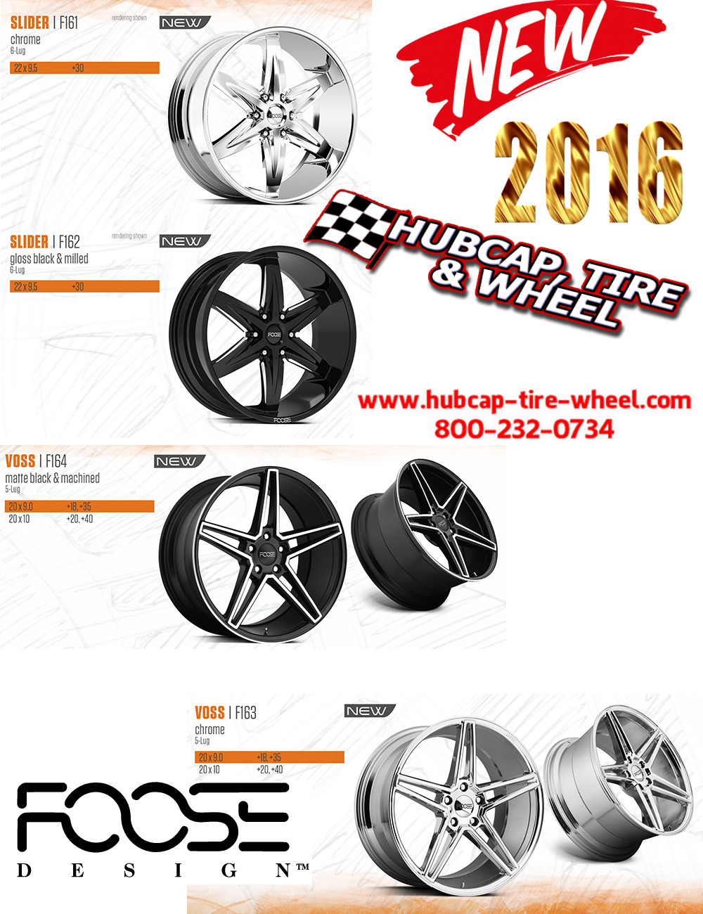 new 2016 foose custom wheels rims