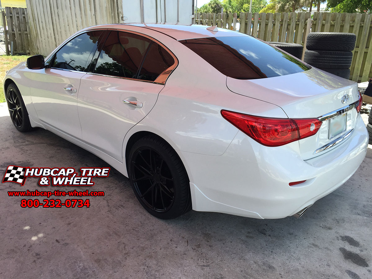 Niche Road Wheels >> NICHE MISANO STAGGERED 19″ BLACK RIMS – 2016 INFINITI Q50 NANKANG TIRE