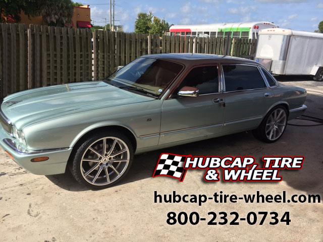 2000 jaguar xj vanden plas 20 inch lexani css 10 custom wheels rims