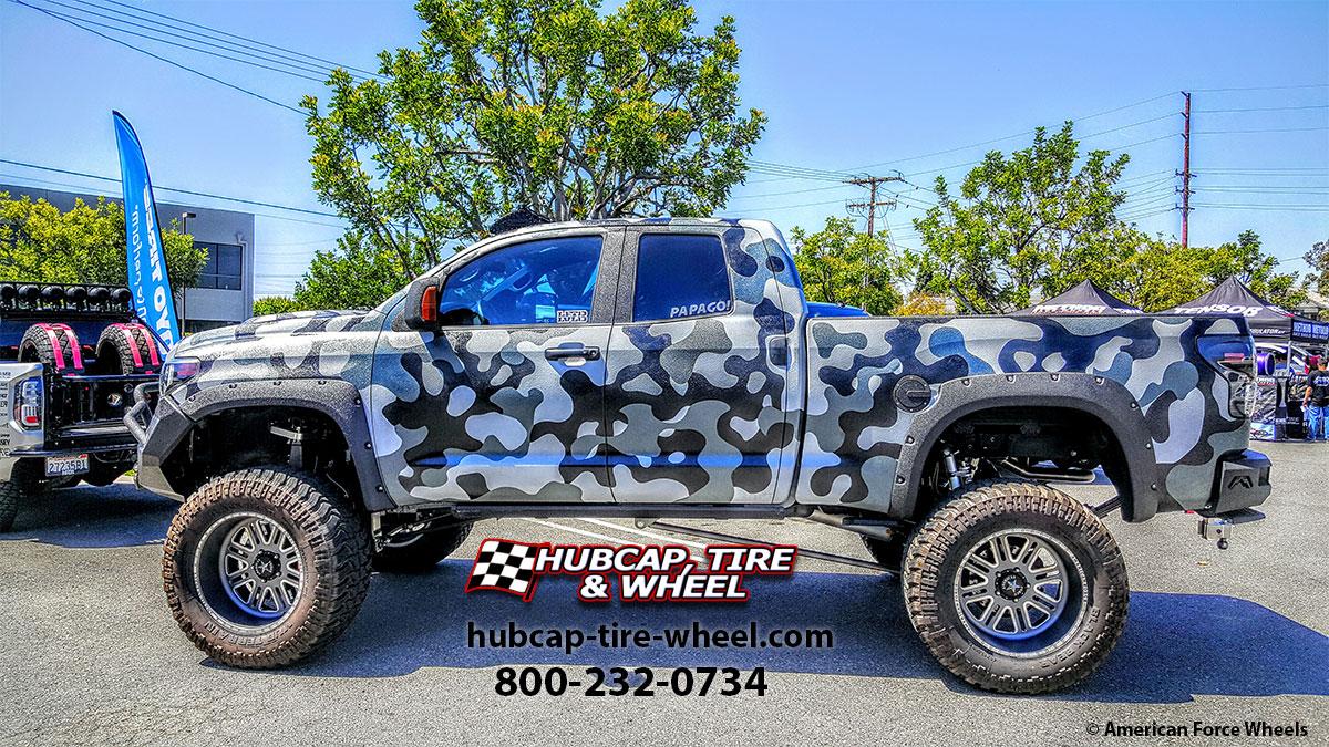 2015 toyota tundra double cab american force alpha sf8 custom wheels rims