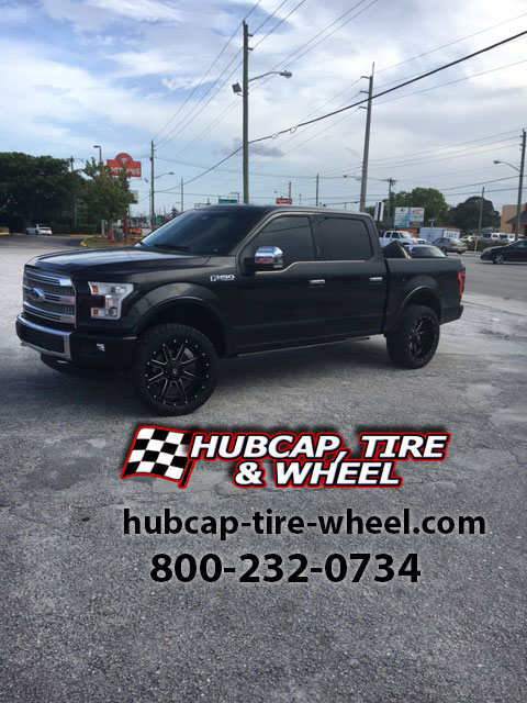2016 ford f150 platinum leveled 22 inch fuel maverick d538 black milled