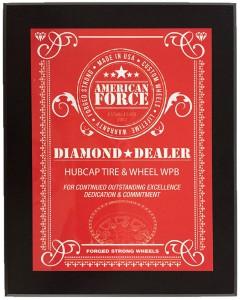 American Force Wheels Diamond Dealer Plaque
