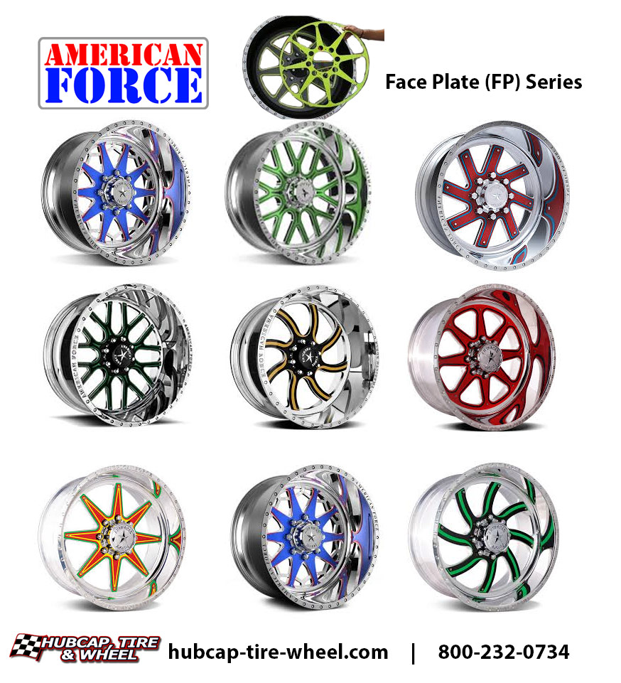 american force face plate series wheels