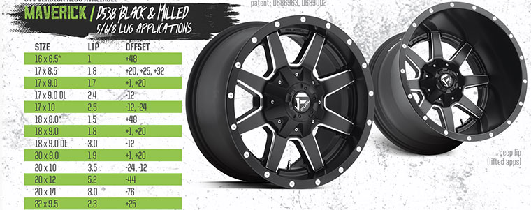 Fuel Maverick D538 Black & Milled