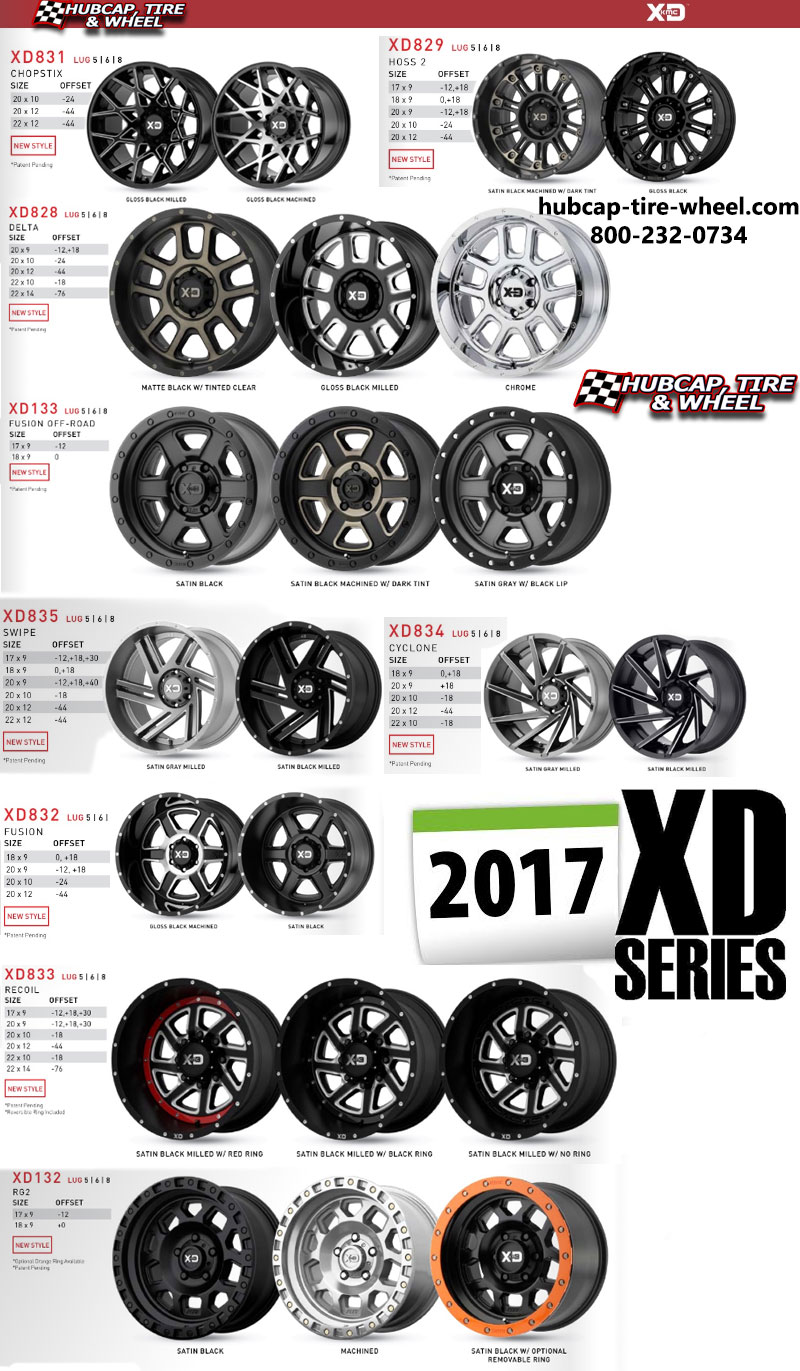 New 2017 KMC XD Series Wheels and Rims