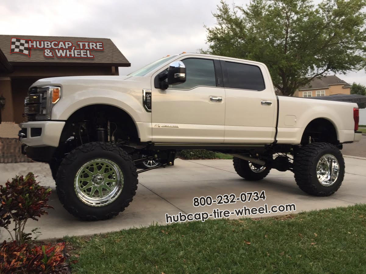 2017 F F-350 Nitto Mud Grappler American Force 22x14 Knight Wheels Rims