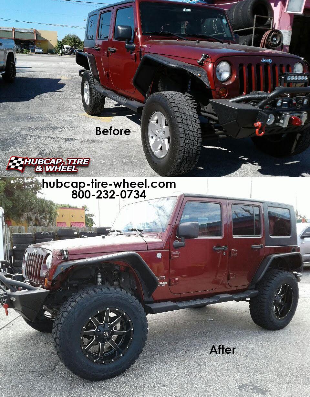 2012 Jeep Wrangler Fuel Maverick D538 Wheels Rims