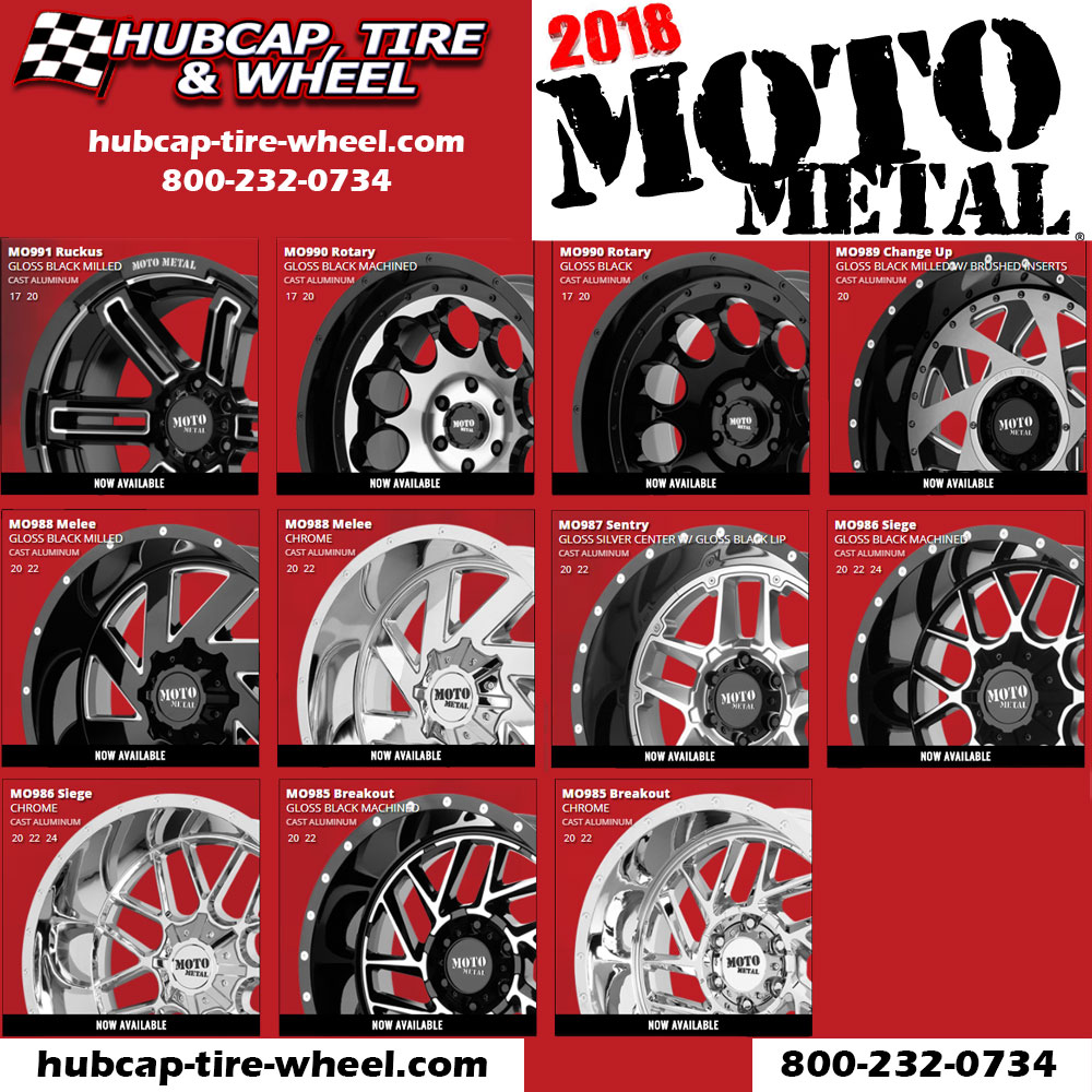 New 2018 Moto Metal Wheels Rims