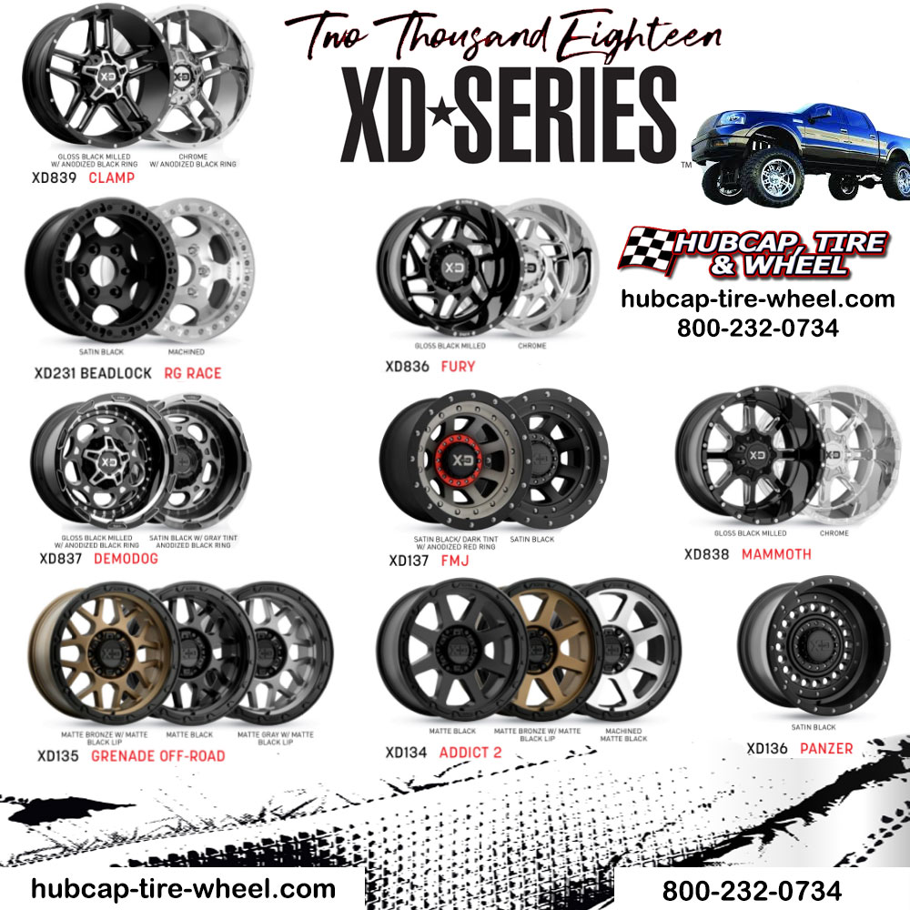 New 2018 XD Series Wheels Rims