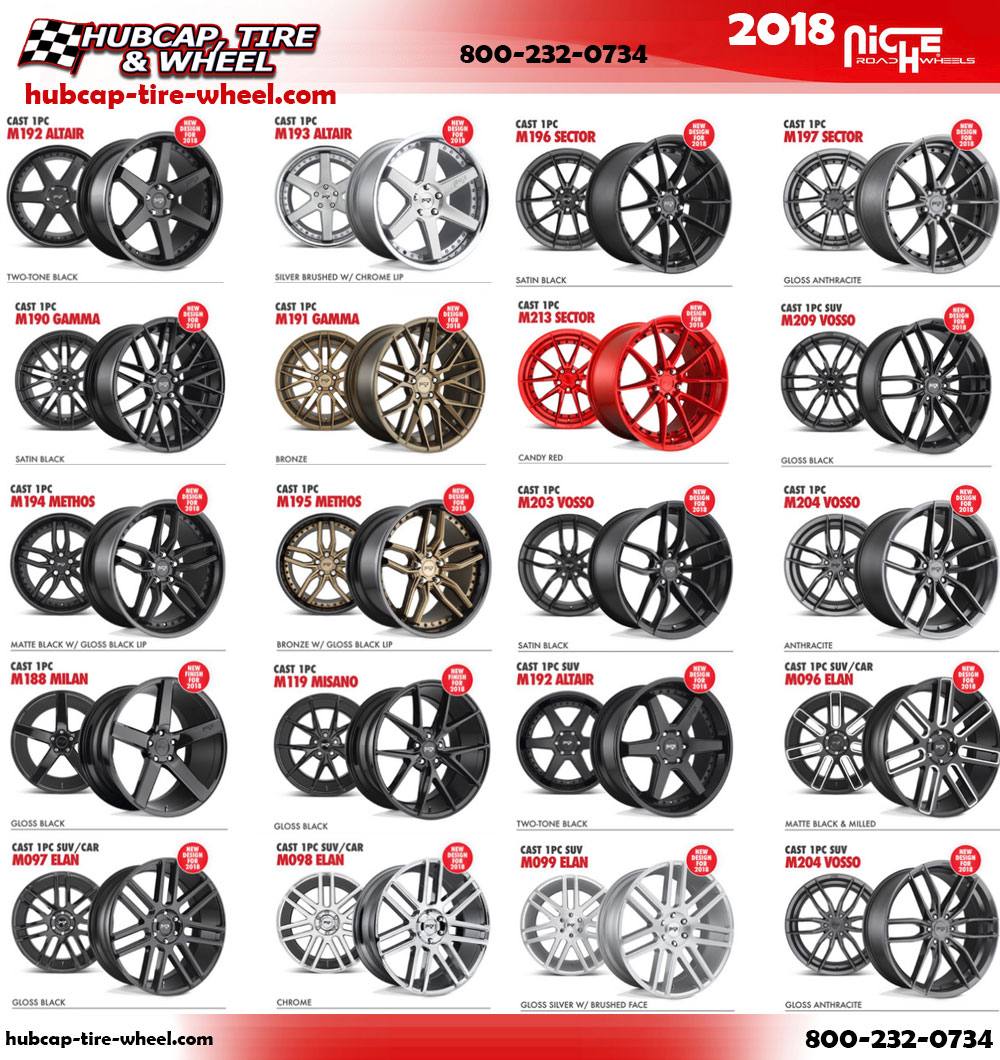 New 2018 Niche Wheels Rims